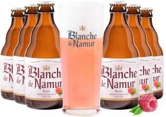 Blanche de Namur Rosée csomag ajándék söröspohárral