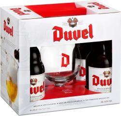 DUVEL 4*0,33L+pohár